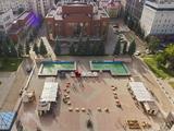 Площадь двух фонтанов, аэропанорама. #kirova27